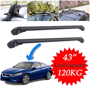Car Roof Top Rack Luggage Carrier Cross Bar Universal For Honda Accord 2005 2010