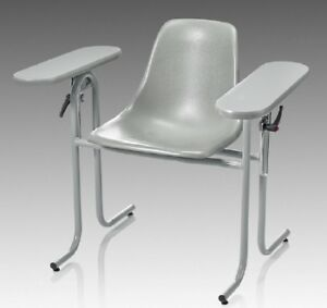 Mckesson Blood Drawing Chair Double Fixed Armrests Gray 1 Count ships Free