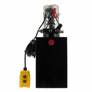 12 Volt Single Acting Hydraulic Pump 12v Dump Trailer 12 Quart Metal Reservoir