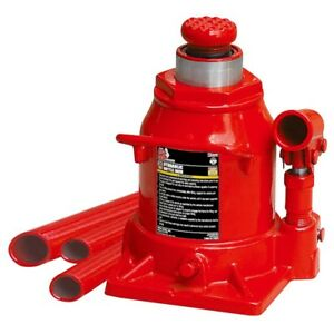 Big Red 20 ton Low profile Bottle Jack Heavy Duty Steel Raise 40 000 Lbs Shop