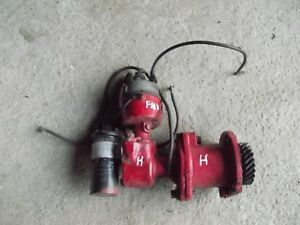 Farmall H Early Sh Tractor Ih Engine Motor Upright Distributor Drive Assembly