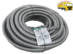 Afc Cable Systems 1 2 In X 100 Ft Flexible Aluminum Conduit Cable Wire New
