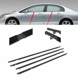 Car Window Weatherstrip Moulding Trim Seal Belt Fit For 2006 2011 Honda Civic