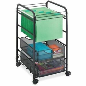 Safco Onyx Mesh Open File With Drawers 5215bl