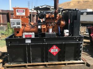 Generac Gen Set 60 Kw 75 Kva Only 598 Hours Since New Ex California City Clean R