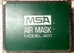 Msa Vintage Air Mask Model 401 Mine Respirator Case Tank Manual Local Pick Up
