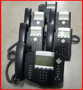 lot Of 6 Polycom Soundpoint 650 Ip650 Ip331 331 Voip Ip Business Phone