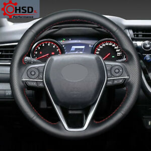 Hand stitched Sewing Genuine Leather Steering Wheel Cover For Toyota Camry 2018