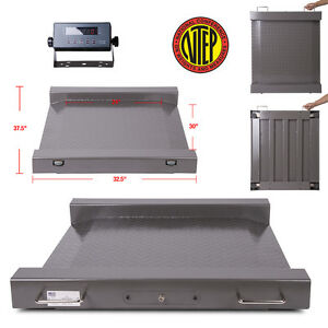 New Ntep legal For Trade Drum Floor Scale Easy Ramp Access 2500 X 5 Lb