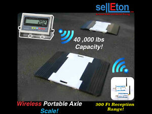 Selleton Wireless Portable Weigh Pads For Truck Car Axle Scale 40 000 Cap