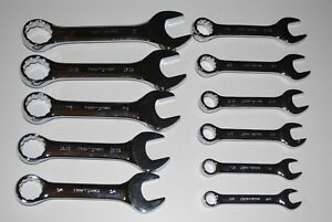Craftsman Professional 11 pc Inch Full Polish Combination Stubby Wrench Set