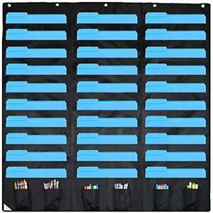 30 Pocket Storage Chart And Hanging Wall File Organizer With 6 Accessory Best