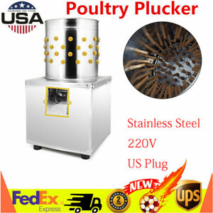 220v Electric Chicken Plucker Plucking Machine Poultry Birds Feather Plucking Us
