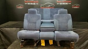 1995 Dodge Ram 1500 Front Rear Seats Extended Cab Manual Cloth Slate Blue B7
