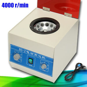 4000rpm Desktop 80 2 Electric Centrifuge Lab Medical Practice Timer 20ml X12