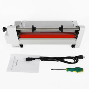 Laminator V350 13 350 Mm Hot Cold Roll Laminating Machine 110v 700w