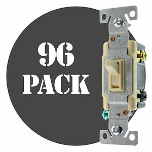 Hubbell Rs315ilcz Lighted Toggle Switch 3 way 15a 120v Ivory 96 pack