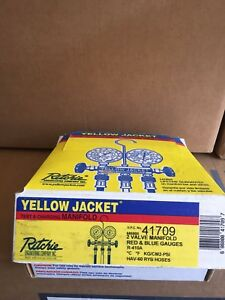 Yellow Jacket 41709 Series 41 Manifold With 2 1 2 Gauge