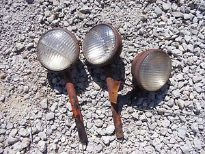 Allis Chalmers Styled Wc Tractor Ac Pair Of Front Lights Posts Rear Light