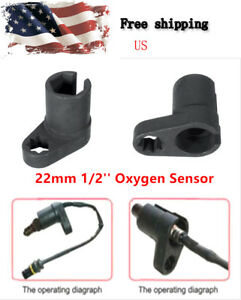 22mm 1 2 Drive Oxygen Sensor Socket Wrench Offset Removal Flare Nut Socket Tool