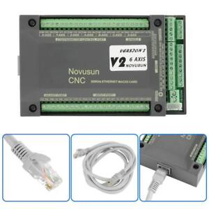 Nvem Cnc Controller 6axis Mach3 Ethernet Interface Motion Control Card Board Hot