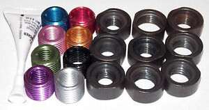 17 Pc Shift Knob Thread Insert Adapter Set For Hurst And Others With M16 Thread