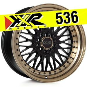 Xxr 536 18x10 5 100 5 114 3 25 Flat Black Bronze Lip Wheels Set Of 4 Mesh