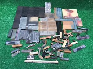 Large Vintage Lot Of Letterpress Print Blocks And Type Fast Free Shipping Wow