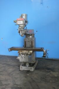 Comet 3 Kvhd Vertical Mill 3hp 10 X 50 Table Power Feed