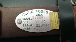 Vintage 1983 New Old Stock Klein Tools Climbing Belt Size 37 45 Model 5266n22