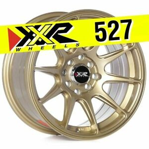 Xxr 527 15x8 4x100 4x114 3 20 Gold Wheels Set Of 4
