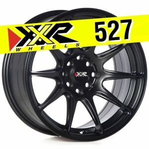 Xxr 527 16x8 4 100 4 114 3 20 Flat Black Wheels Rims set Of 4 Fit Honda Civic