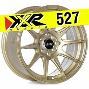 Xxr 527 16x8 4x100 4x114 3 20 Gold Wheels set Of 4