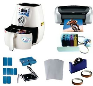 Mini 3d Pro Sublimation Heat Transfer Machine Epson Printer C88 Ciss Kit