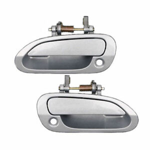 For 1998 2002 Honda Accord Ds96 Front Pair Outside Door Handle Silver Nh 612m