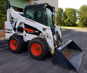 2013 Bobcat S650 Skid Steer Loader W Bucket 994 Hours Sjc Cab Heat Ac Diesel