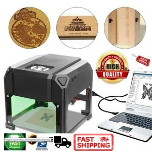 Laser Engraver Usb Printer Logo Mark Cutter Carver Engraving Machine 2000mw Diy