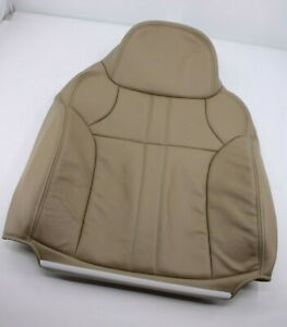 2000 2001 Ford Excursion Front Bottom Leather Seat Cover Replacement Tan