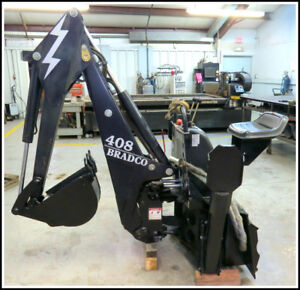 Bradco 408 Backhoe Bobcat Skid Steer Attachment