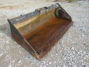 Used Takeuchi Bradco 66 Smooth Skid Steer Bucket Attachment Ship 199