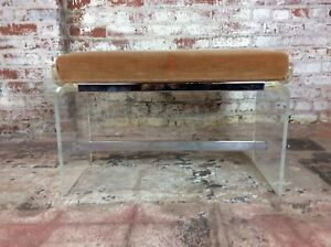 Charles Hollies Jons Lucite Bench Hollywood Regency
