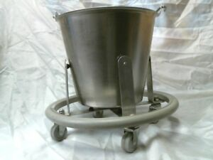 Stainless Steel Utility Pail 12 Qt Bucket W handle And Stand Vollrath