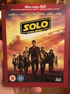 SOLO: A STAR WARS STORY 3D  2D Blu-ray PRE-ORDER - SHIPS FROM US SELLER BY 103