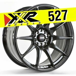 Xxr 527 18x8 75 5x100 5x114 3 35 Chromium Black Wheels Set Of 4