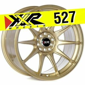 Xxr 527 18x9 75 5x100 5x114 3 35 Gold Wheels Set Of 4