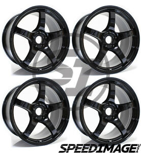 4x Gram Lights 57cr 18x9 5 38 5x120 Glossy Black Set Of 4 Wheels Wheel