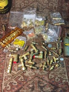 Mixed Lot Copper Couplings Copper T s Items Clippard Control Components