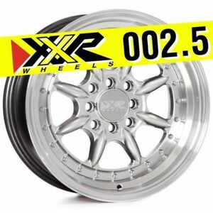 Xxr 002 5 16x8 4x100 4x114 3 20 Hyper Silver Wheels set Of 4