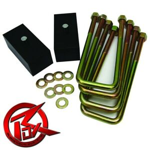 For 86 98 Toyota Ifs Pickup T100 2 Rr Blocks Lift Kit U Bolts Spring Over Axle