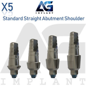 5 Standard Straight Abutment With Shoulder For Dental Implant Internal Hex